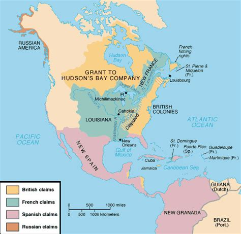 american map before colonization timeline