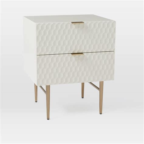 bedside table height relative to bed audrey bedside table parchment west elm au