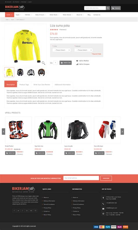volusion responsive template bikerjam volusion responsive design template premium