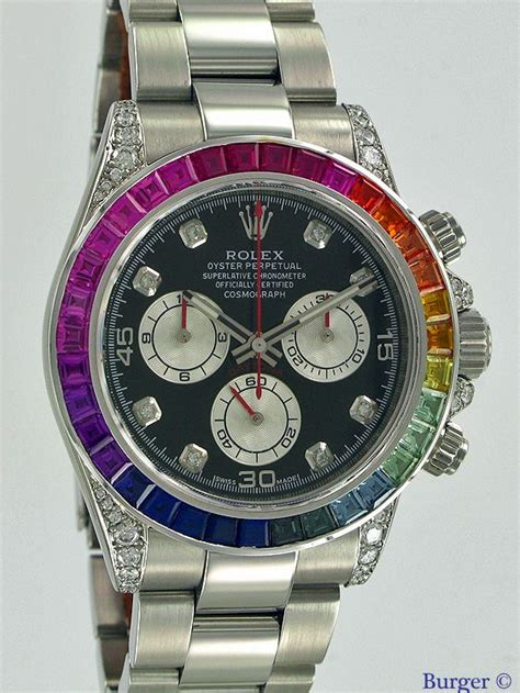 Rolex Daytona Silver Rainbow daytona rainbow rolex juwelier burger in maastricht specialist in exclusive watches
