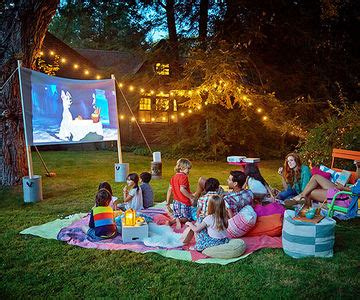 backyard activities for adults summer movie night in your backyard