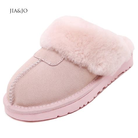 house slippers for girls fashion warm full grain leather slippers home women eva sheep wool house slippers for