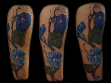 morning glory tattoo blue morning vine by eddie tattoonow
