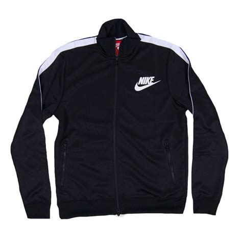 Jaket Nike Black nike tribute track jacket black white mens sweats and