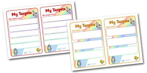 Target Card Template Ks2 by Editable Target Learning Objective Book Labels Book