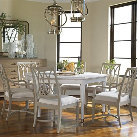 Coastal Dining Room Furniture Coastal Living Resort Soledad Promenade 7 Dining Set In Sail Cloth Dune 062 A1 32 D1