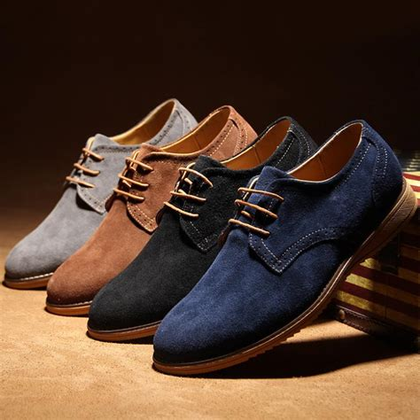oxfords mens shoes 2015 high quality suede leather oxford shoes
