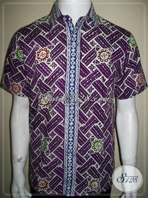 Kemeja Batik Ungu kemeja batik murah lengan pendek warna ungu kualitas