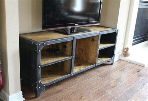 industrial media console media console tv stand industrial style console tv