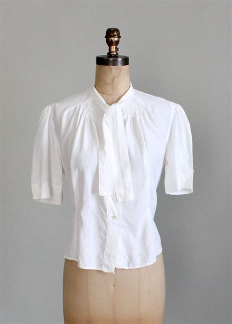 Big Blouse Material Spandex Rayon Fit To Xl Atasan vintage 1940s white rayon blouse raleigh vintage