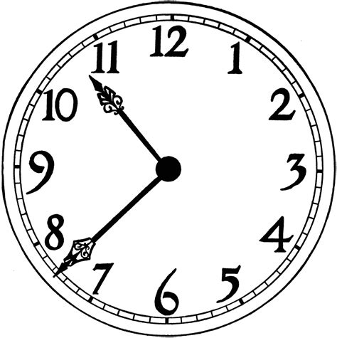 printable clock printable blank clock face clipart best