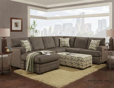 Large Home Floor Plans hillel pewter sectional 4160sectpewt sectional couches