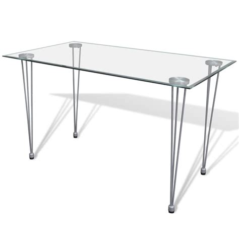 Dining Table Top Glass Vidaxl Co Uk Transparent Glass Top Dining Table