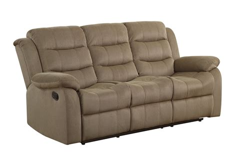 Coaster Reclining Sofa Coaster Rodman Reclining Sofa Two Tone 601884 At Homelement