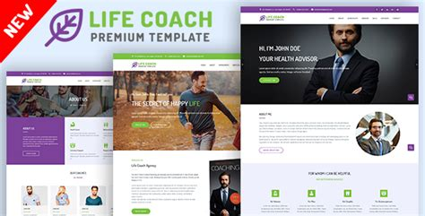 website templates for life coaches life coaching templates from themeforest