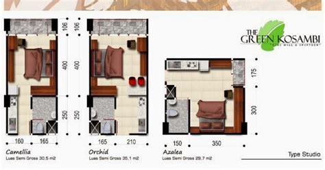 layout apartemen 2 kamar tipe unit kamar apartemen green kosambi bandung green