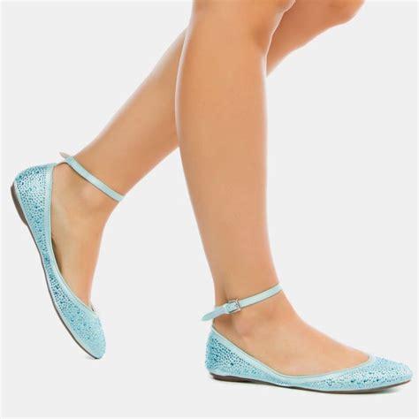 Pretty Flats by Pretty Blue Ankle Flats Fashion Forward