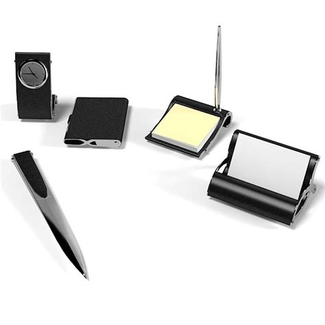 Writing Desk Accessories 3ds Max Office Set Writing