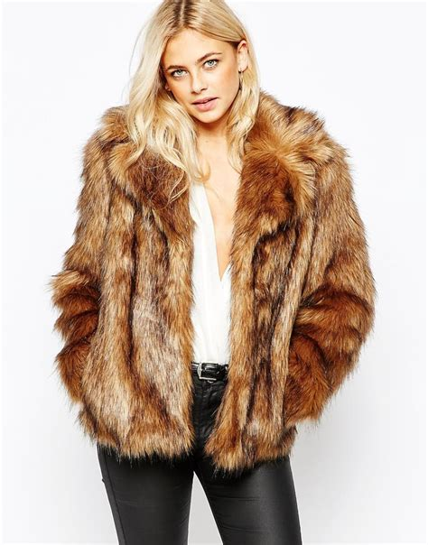 Faux Fur by Oasis Faux Fur Coat In Brown Lyst
