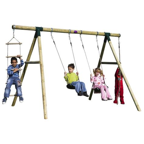 swing set rope plum kids double swing set w climbing rope ladder buy
