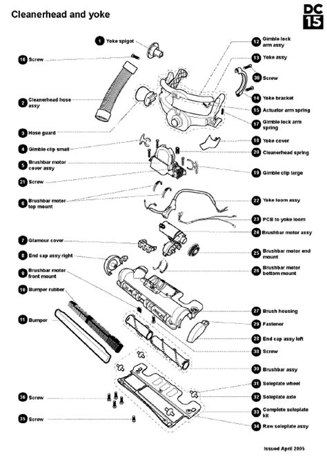 dyson dc15 parts diagram dyson dc15 animal steel lavender vacuum cleaner parts