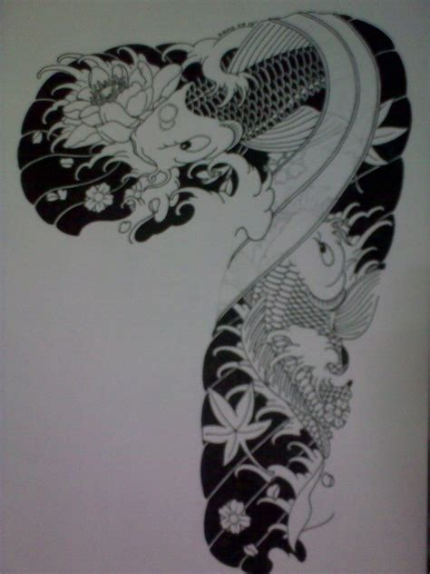 koi fish sleeve tattoos designs ideas by pauline chandler amorphoto