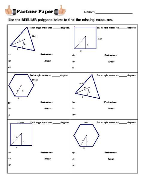 html define printable area area and perimeter of polygons worksheet pdf worksheets