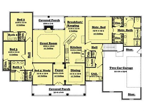 single story house plans 2500 sq ft french european house plans home design cedarcrest 20620