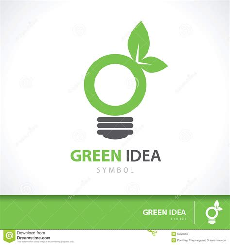 Green Idea Stock Vector Image 50820063 Green Concept Logo Vectors