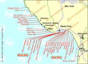 california surf map santa surfing in santa united states of