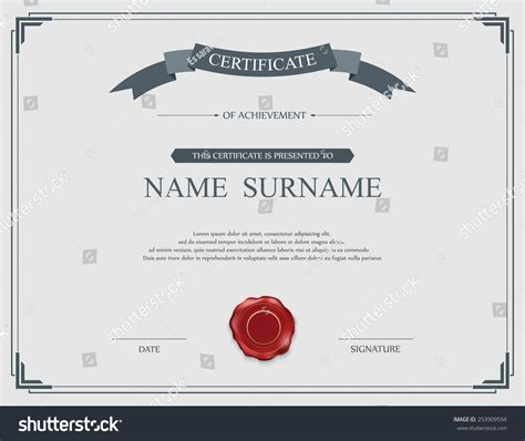 vector certificate template 28 images certificate
