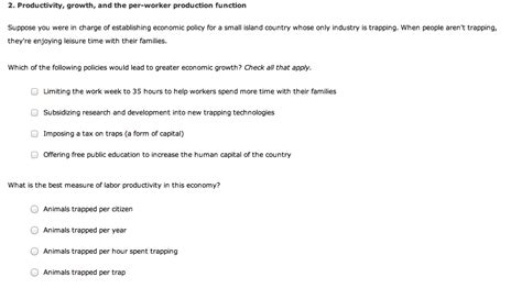 Questions To Help You Be In Charge Of Your Happiness by Solved 2 Productivity Growth And The Per Worker Produc