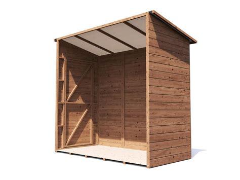 dunster house export website anya  sided pent shed