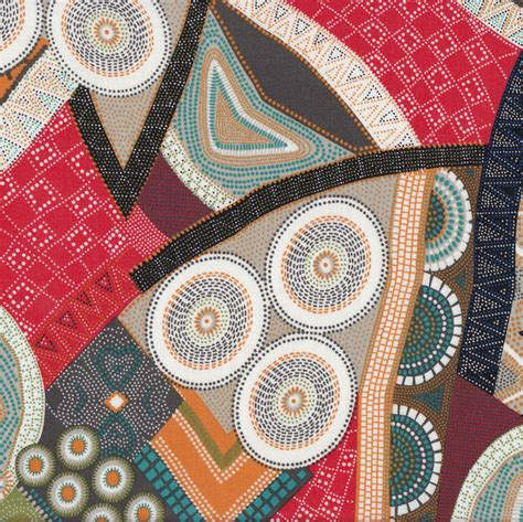 Quilting Fabrics Australia by Australian Aboriginal Bindoon Dots And Circles Design