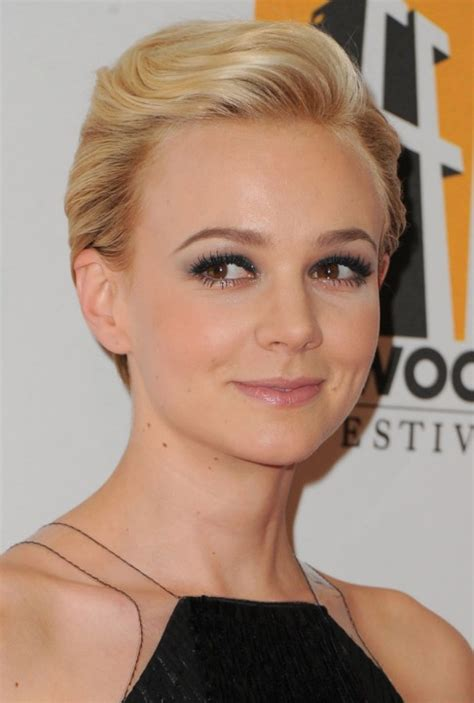 Formal Comb Back Pixie Cut Carey Mulligan Hairstyle Hairstyles | trendy short funky faux hawk haircut for women miley cyrus