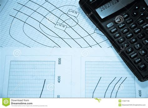 free diagram calculator diagrams and calculator royalty free stock image image