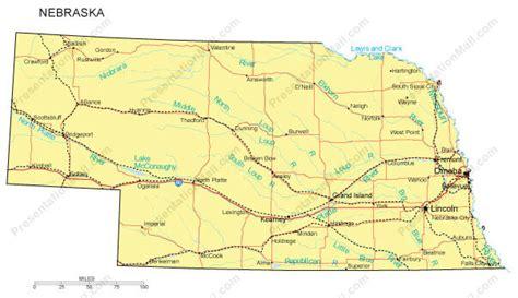 omaha nebraska usa map nebraska map
