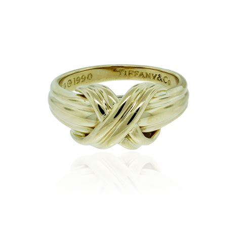 co 18k yellow gold signature x ring
