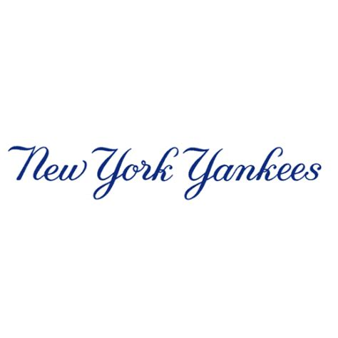 Hockey Wall Stickers new york yankees script logo decal sticker version 4