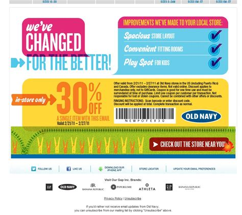 old navy coupons in store 30 off canadian daily deals old navy 30 off single item in