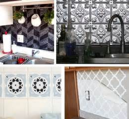 Removable Wallpaper Backsplash Solutions For Renters Kitchens Centsational Girl