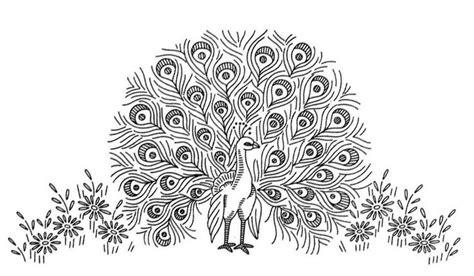 imajenes de dibujo de pavo real para bordar pavo real and patrones on pinterest