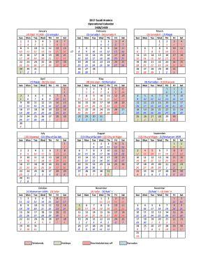 Calendar 2018 Saudi Aramco Calendar Fill Printable Fillable Blank
