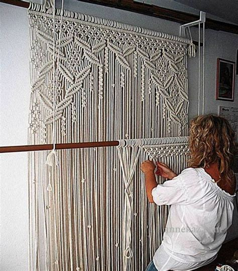 macrame curtains amazing macram 233 curtain crochet yarn decore learn