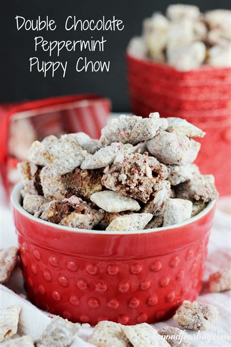 peppermint puppy chow chocolate peppermint puppy chow