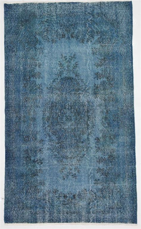 bright blue rugs bright blue overdyed rug by bazaarbayar on etsy anatolian and asian woven style