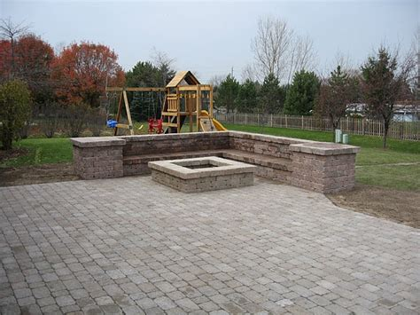 Fire Pit Ideas Pictures This Bergerac 4pc Paver Paver Patios With Pit