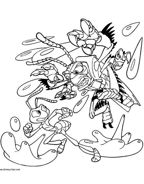 disney pixar a bug s life printable coloring pages
