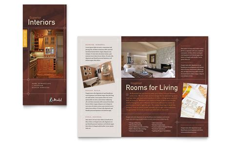 Home Remodeling Tri Fold Brochure Template Word Publisher Home Improvement Flyer Template Free