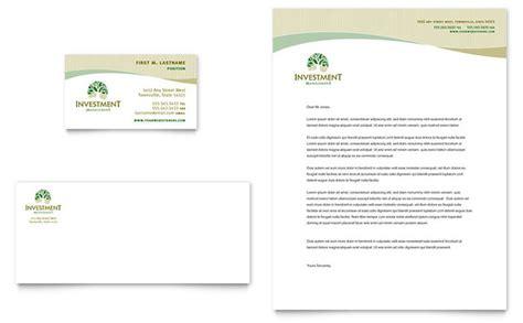 business letterhead templates illustrator investment management business card letterhead template